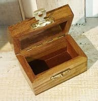 Box - mini chest with brass heart inlay